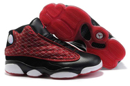Womens-air-jordan-13-black-white-claret-red-fashion-style-shoes