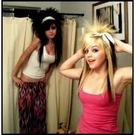 Our crazy ass hair! With- Linsey :)
