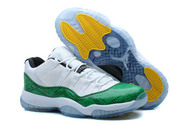 Bigshop-zerokicks-hot-sale-nike-air-jordan-11-good-quality-6006-01-low-green-snakeskin-green-white