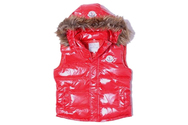 Moncler-vest-fur-collar-red