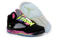 Athletic-shoes-women-air-jordan-5-014-001-retro-black-pink-volt