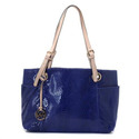 Jet-set-zip-top-tote-indigo-python-embossed-patent-leather