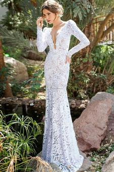 Tantalizing_deep_v_neck_white_pierced_lace_hand_made_wedding_dress_with_full_sleeves_145_large