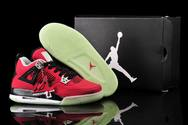Women-glow-in-the-dark-air-jordans-4-fire-red-toro-fashion-style-shoes