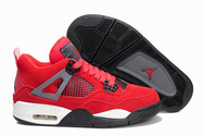 Women-air-jordan-4-red-vivid-pink-white-fashion-style-shoes