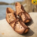 Tan_leather_flat_shoes_305007a