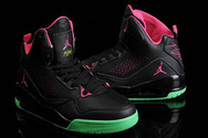 Kicks-king-jordansneakers-jordan-flight-45-nike-shoes-9008-01-high-black-vivid-pink-green-cheap-sale