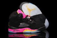 Recommend-best-products-shop-women-air-jordan-v-03-001-retro-gs-blackbright-citrus-fusion-pink