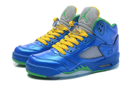 Purchase-perfect-shoes-women-air-jordan-5-01-001-gs-metallic-blue-yellow-green-shoes