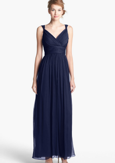 Dark-navy-straps-v-neck-floor-length-ruched-chiffon-bridesmaid-dresses13782605471_large