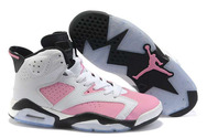 Womens-air-jordan-6-white-black-pink-fashion-style-shoes