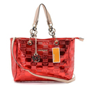 Michael-kors-mirror-metallic-chain-large-red-tote-bags-895