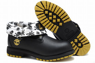 Mens-timberland-roll-top-boots-black-white-001-01