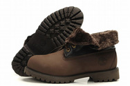 Mens-timberland-roll-top-boots-with-brown-lapel-warm-woolly-001-01