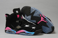 Air-jordan-retro-6-gs-black-pink-flash-marina-blue-shoe