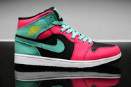 Sporting-pictureshoes-fashion-new-brand-nike-womens-air-jordan-retro-1-shoes-7006-01-mid-atomic-red-volt-green-glow-free-shipping
