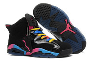 Fashion-new-brand-nike-air-jordan-6-shoes-6005-01-rainbow-black-pink-blue-free-shipping