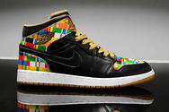 Original-nike-womens-air-jordan-retro-1-new-7007-01-mid-black-yellow-multi-colors-quality