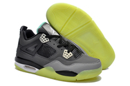 Free-shipping-quality-air-jordan-4-06-001-women-gs-dark-grey-black-cement-grey-yellow-glow-in-the-dark