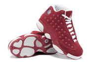 Women-air-jordans-13-suede-red-white-fashion-style-shoes