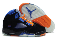 Latest-quality-shoes-air-jordan-5-fluff-black-orange-old-royal-fashion-style-shoes