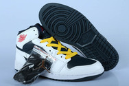 Low-price-nike-air-jordan-1-new-release-4007-01-white-black-yellow-lace-shoes-online
