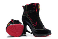 Good-shoes-collection-air-jordan-13-high-heel-boots-black-pink-high-quality