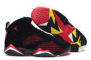 Latest-quality-shoes-womens-air-jordan-7-embroidery-charcoal-black-true-red-yellow-fashion-style-shoes
