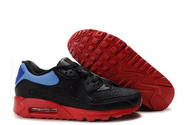 Retro-kicks-air-max-90-black-black-vivid-blue-varsity-red-running-shoes