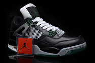 Authentic-and-fast-ship-1st-basketball-sneaker-jordan-4-005-01-retro-black-grey-darkgreen-white