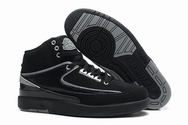 Hottest-collection-air-jordan-2-02-001-men-black-chrome