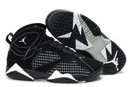 Womens-air-jordan-7-embroidery-black-white-fashion-style-shoes